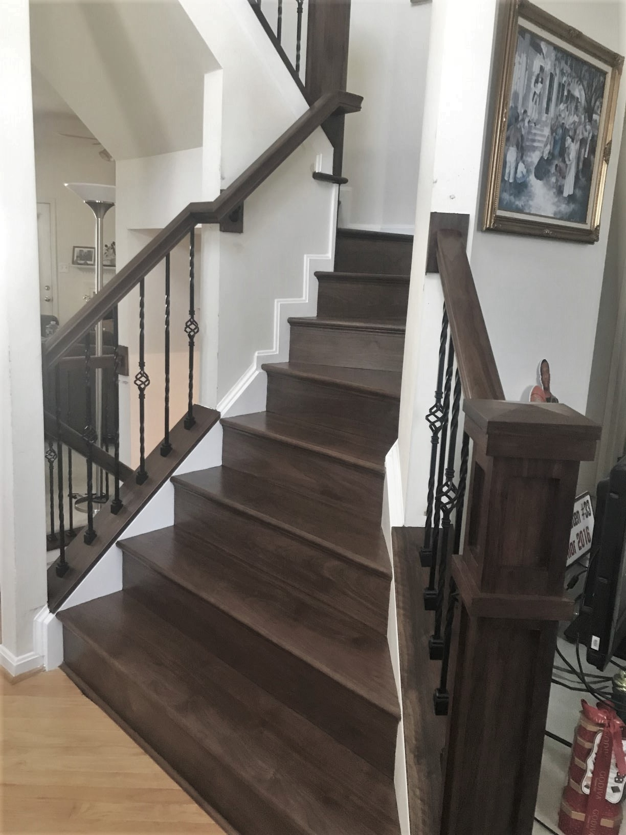 Walnut Wood Stairway - Stafford VA